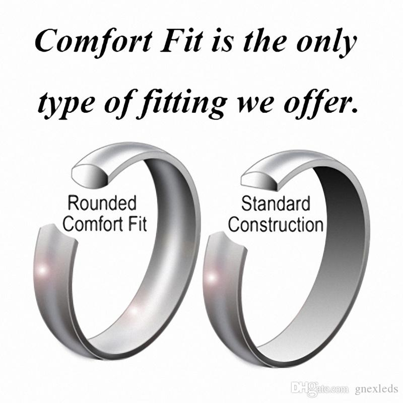 Tungsten Pink Carbon Fiber Wedding Ring Bands Jewelry For Women Infinity Silver Matching Sets Size 6-13 Half Size