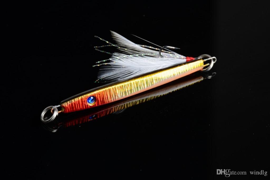Hengjia Bly Baits 5,7cm 10,9 g 8 # Krokar Fiske Lures Färskvatten Saltvatten Metall Jig Bete I lager
