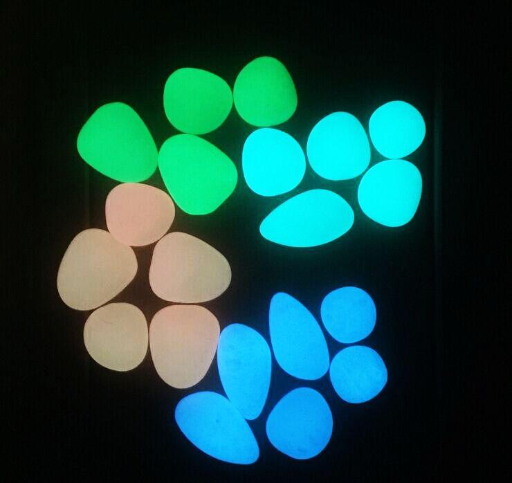 1Kg Large Size Glow Pebble in the Dark,Solar Glow Stone Simulation Luminous Pebble Stone For Home Fish Tank Decor Garden Corridor Decoration