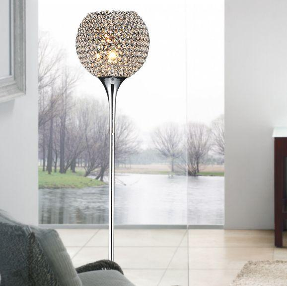 See larger image - Wholesale Crystal Floor Lamp Suppore Led E27 Modern Sconce Crystal