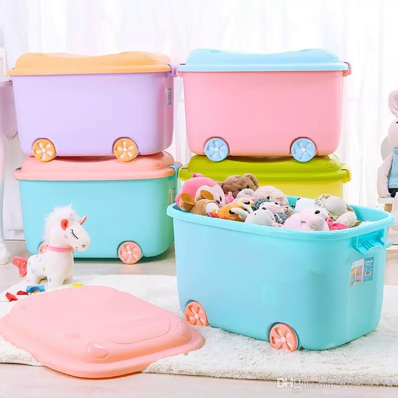 2018 Children Room Containing Box With Wheels Plastic Children Toy Packing Box  Baby Clothes Locker Storage Box Carrying Case From B15071213, $9.55 |  Dhgate.