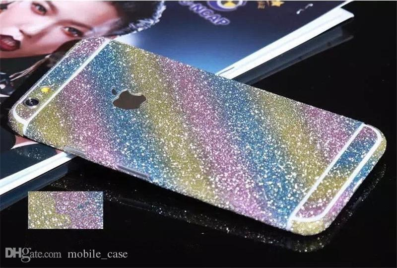 For Iphone 7 Bling Rhinestone Glitter Full Body Shine Front Back Sticker Case For Iphone 6S Plus 6S 5 5S With Retail Package