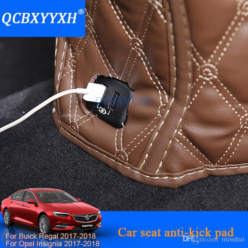 3 adet Araba Koltuğu Arka Anti-Çocuk-Kick Pad Kapak Arka Koltukta Çocuk Kick Buick Regal Opel Insignia Için Çamur Kir Mat Korumak 2018