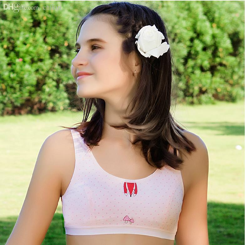 7154078a6e065 ... 2015 Summer Style Cotton Training Bras For ... Wholesale Pink Or Gray  2015 Summer Style Cotton Training Bras For 9 To 12 Year Old Pubescent Young  Girls ...