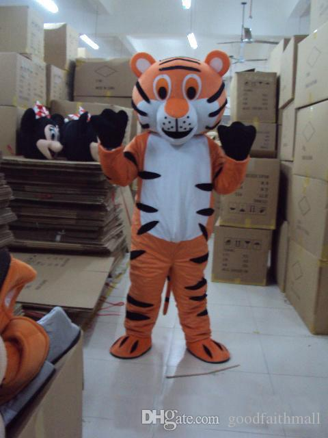 2017 High quality Lovely Big Tiger cartoon doll Mascot Costume Free shipping