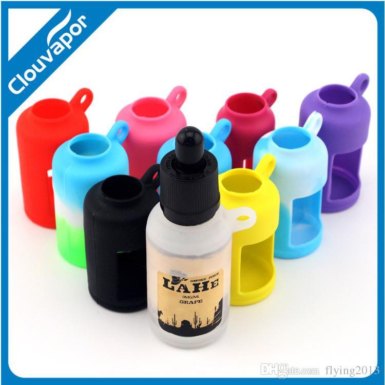 E жидкие бутылки чехол силиконовый чехол для 30 мл E бутылки сока витрина красочные цвета силиконовые бутылки крышка
