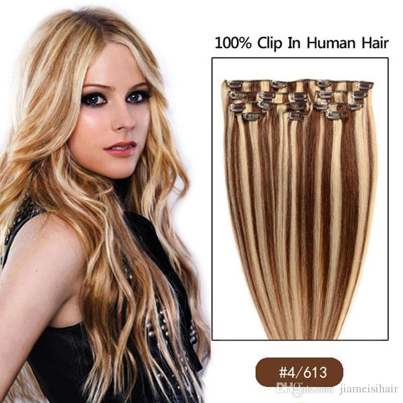 Clip in human hair extention 8a color 4613 100 human hair see larger image pmusecretfo Image collections