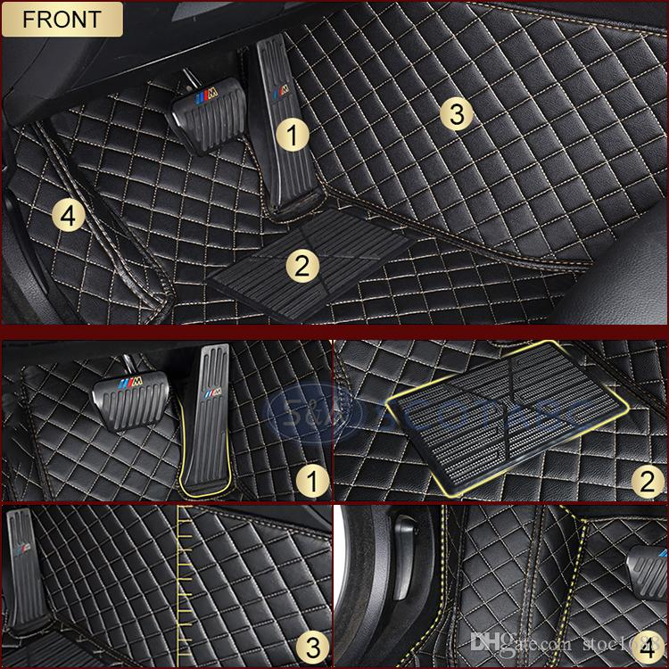 SCOTABC Custom Fit Car Foot Pads Leather Car Floor Mats FloorLiner for Acura RLX ,All Weather Waterproof 3D Non-Slip Carpets