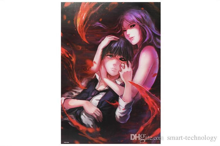 الكرتون أنيمي طوكيو الغول الملصقات ورقة المشارك الجدار ملصق غرفة الديكور 42x29 سنتيمتر 8 قطعة / المجموعة جودة عالية شحن مجاني