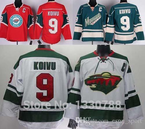 san francisco 18ce9 d5b00 2015 Best Quality Minnesota Wild Jersey #9 Mikko Koivu Home Red White Road  Green Alternate Discount Cheap Mens MN Wild Hockey Jerseys