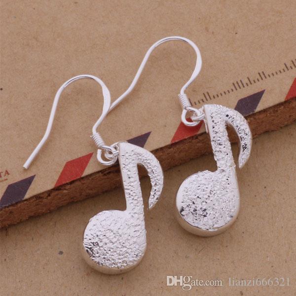 Fashion Produttore di gioielli 40 pezzi molto Nota Orecchini 925 gioielli in argento sterling fabbrica Moda brillare Orecchini