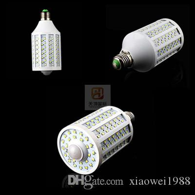 Датчик 45W привело лампа Авто PIR инфракрасный движения Светодиодные лампы Свет E27 E26 B15 B22 SMD 2835