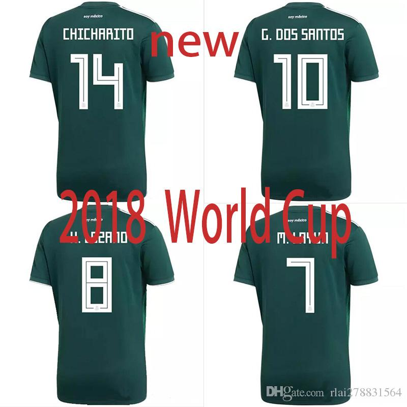 new styles f3064 8e960 2018 world cup Mexico national team SOCCER JERSEYS CHICHARITO CHUCKY LOZANO  DOS SANTOS HERRERA LAYUN football shirt camisetas de futbol