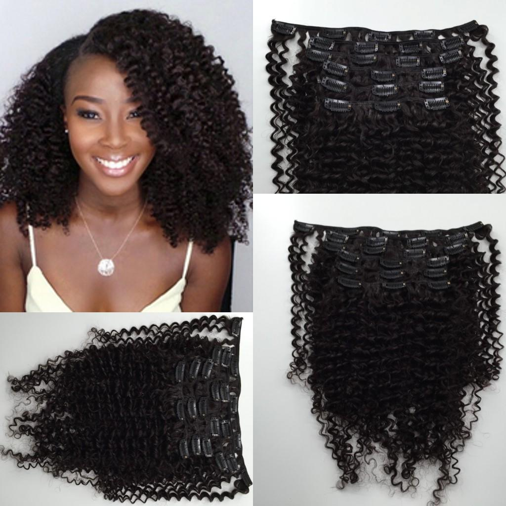 8 30 remy hair clips in human 3b3c hair extensions afro kinky 8 30 remy hair clips in human 3b3c hair extensions afro kinky curly virgin human hair full head set 120g natural black dirty blonde hair extensions hair pmusecretfo Image collections
