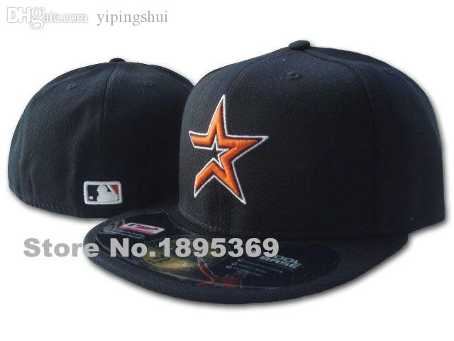 355a7376193 Wholesale Classic Houston Astros Fitted Hats For Men In Full Black Color On  Field Sport Baseball Closed Caps For Men And Women With Stars Trucker Cap  ...