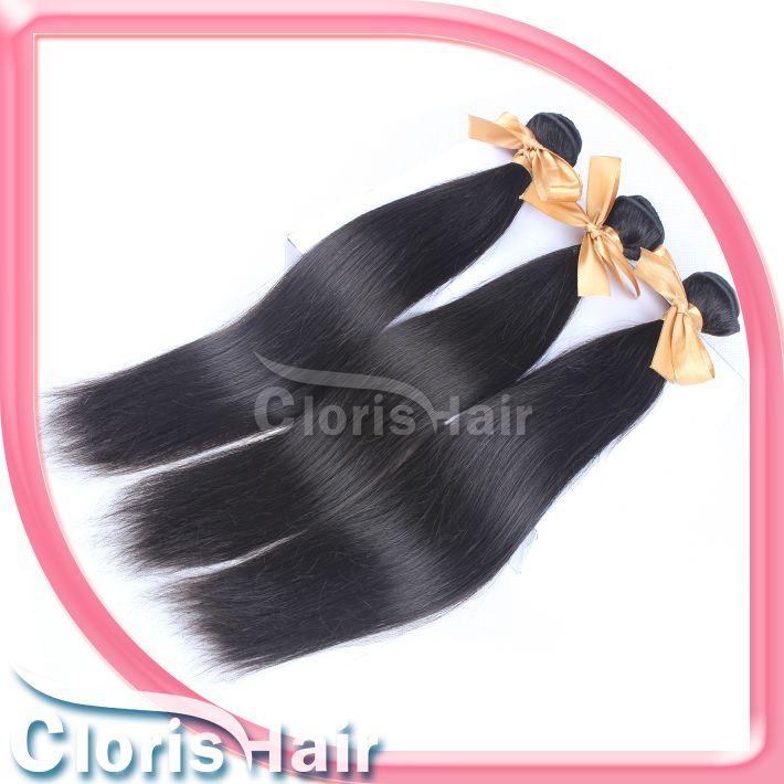 Top Brasileño Virginal Hair Straight 2 Bundles Ofertas de cabello humano barato Tejido sin procesar Brasilian Sily Silky Hair Extensions EXTENSIONES SANA