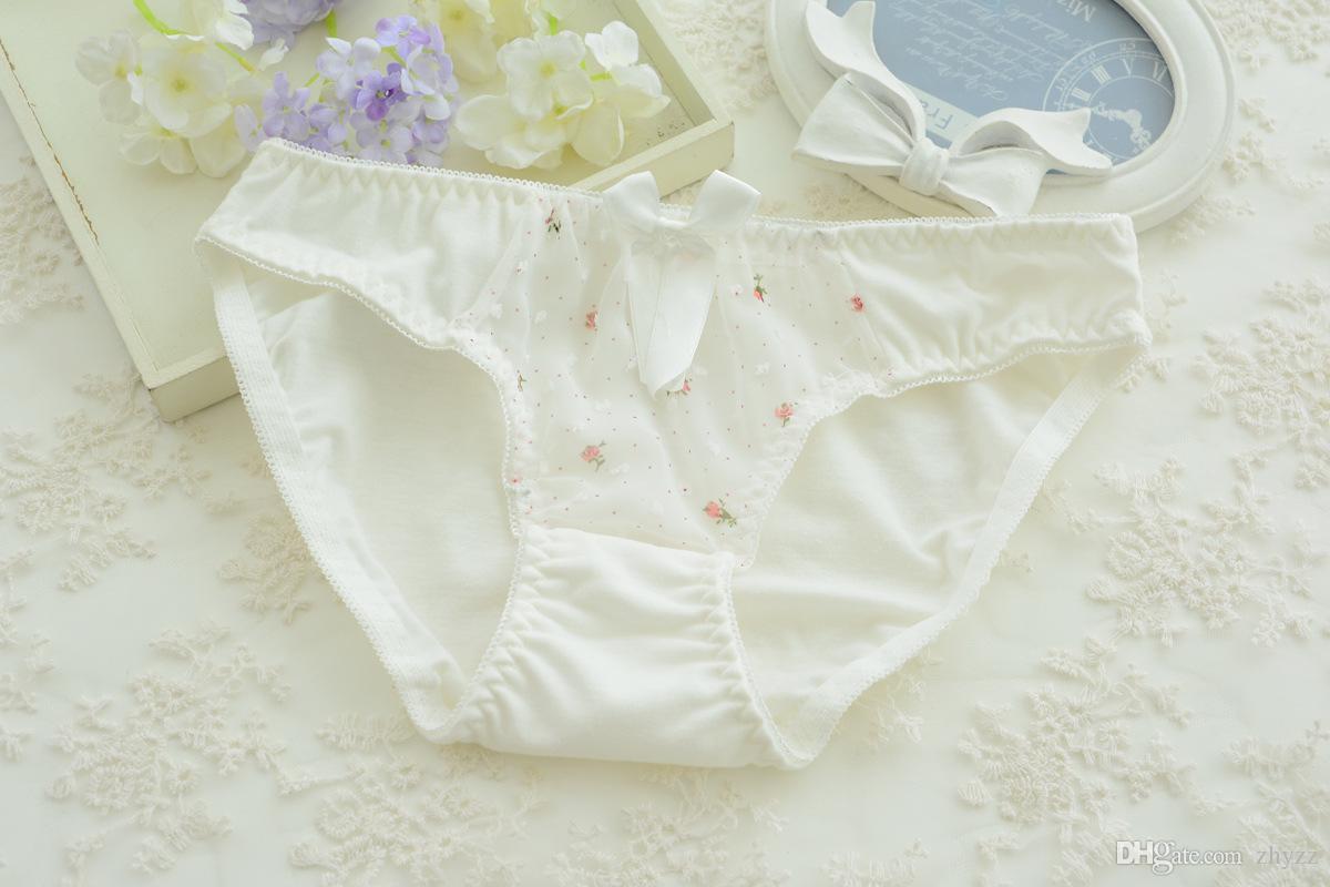 Sous-vêtements en coton mignons jeune fille dentelle dentelle Floral Underwire Push up soutien-gorge rembourré et culotte ensemble AB tasse