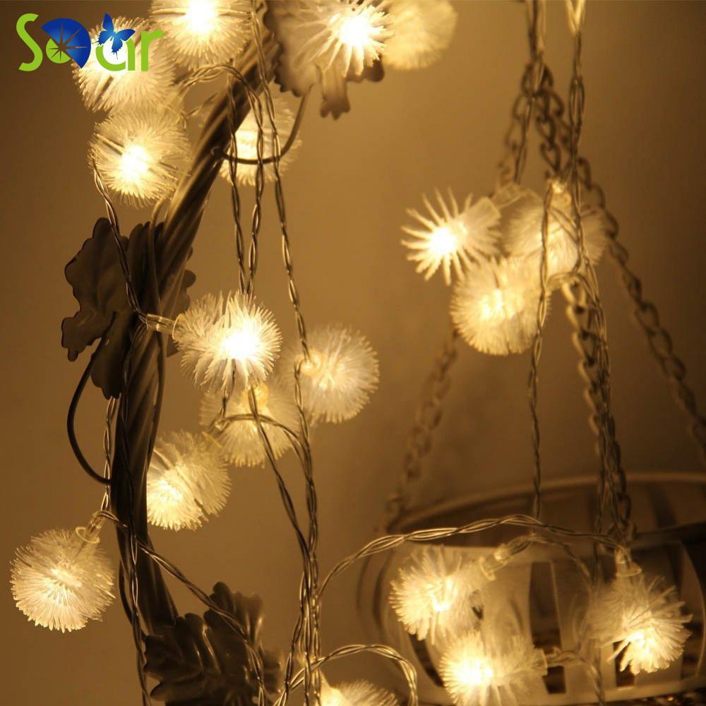 Wholesale Led Snow Fairy String Lights 40 Led 15ft Dandelion Outdoor ...