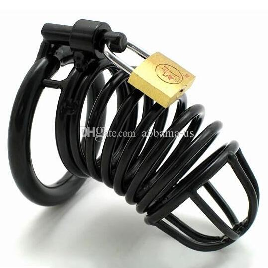 Vendas da fábrica macho metal Black Cock gaiola Slave Penis Locking Chastity Dispositivo Sex Toys Keyholder