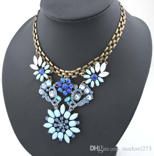 fashion Shourouk Brand Necklaces & Pendants Women New Designer Statement Fashion Luxury Pendant Jewelry 900156