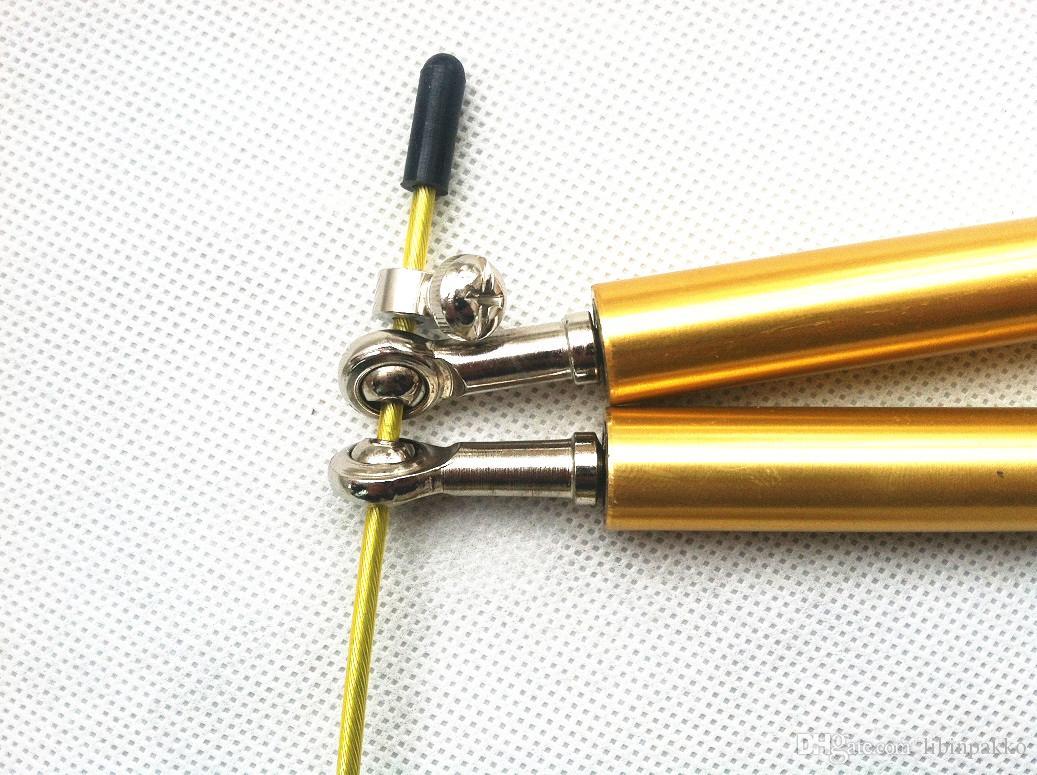 Скорость скакалка фитнес-оборудование crossfit скакалка-шарикоподшипник металлическая ручка, кабель из нержавеющей стали