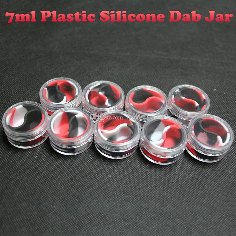 Nouveau récipient en plastique acrylique de 7 ml en forme pour les petits récipients d'huile lisses