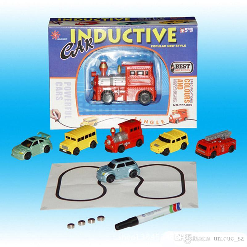 New Mini Inductive Car Engineering Vehicles Truck Magic Pen Inductive Fangle Vechicle Toy Children's Car Truck Tank Car Creaive Gift DHL Fre