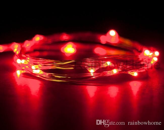 CR2032 Button Battery Operated LED Copper Silver Wire Fairy String Lights for Christmas Decoration Home Wedding Party Xmas Lighting 2M 20LED