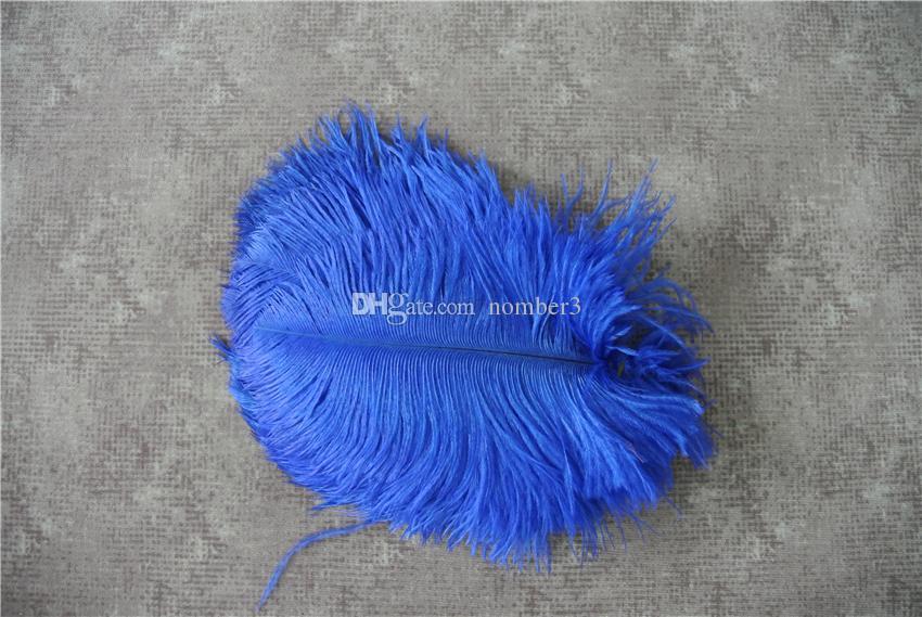 100 pz 5-8 pollici royal blue piuma di struzzo plume centrotavola di nozze decor centrotavola di festa decorazione evento matrimoni fornitura