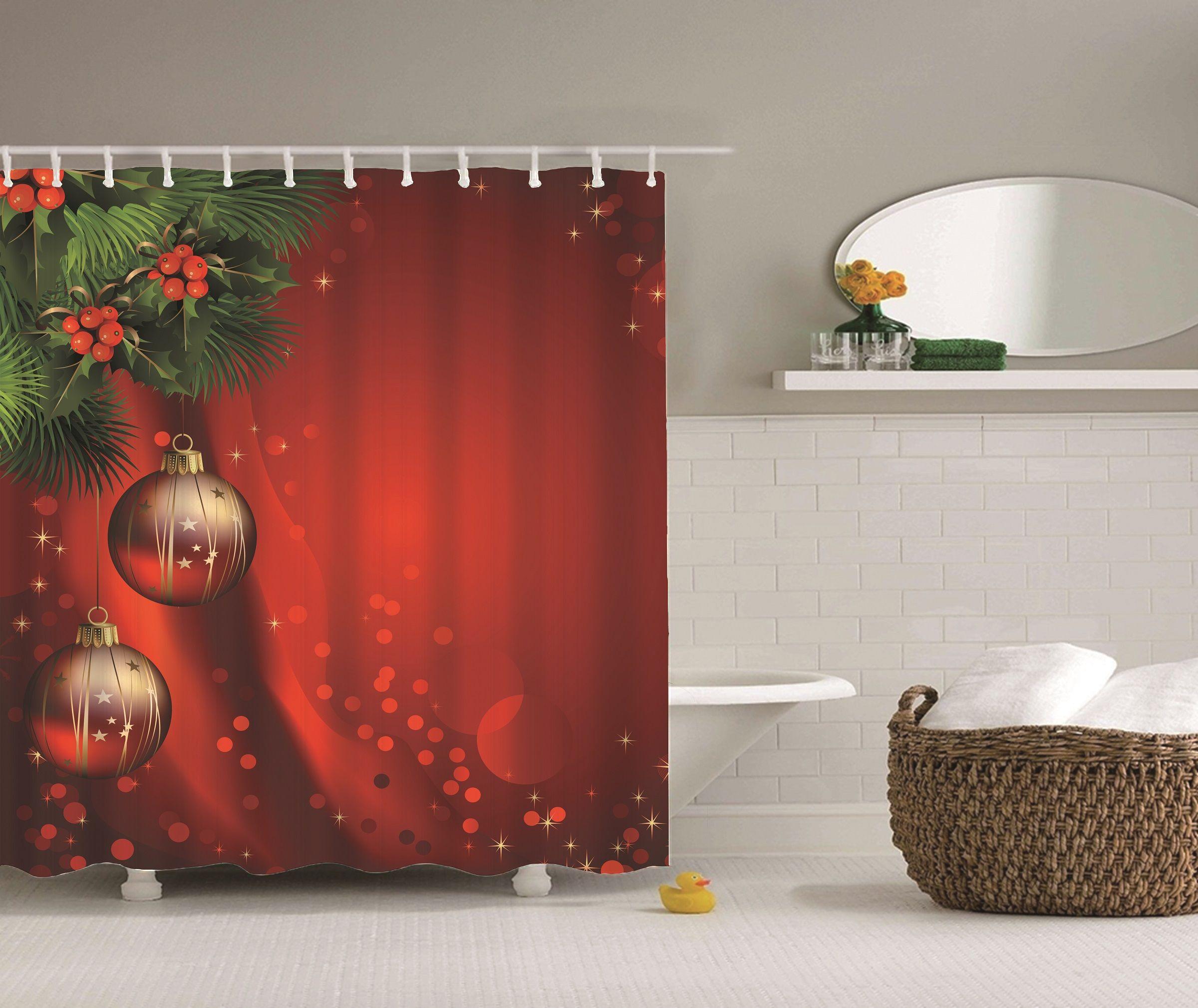 2019 Merry Christmas Festival Cartoon Shower Curtain Digital Printing Bath Curtain With Rings 71x71inch From Willwangtrade888 14 32 Dhgate Com