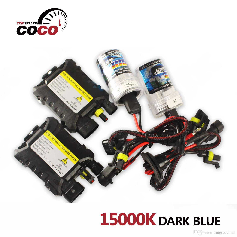 Dc w v Car Xenon Hid Kit Light k Dark Blue Bulb H1 H3 H4