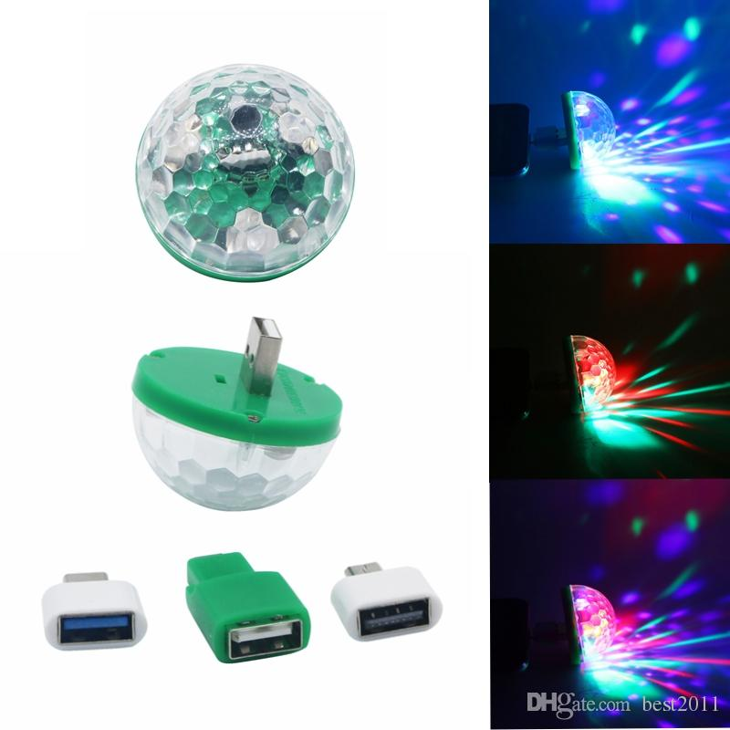 Mini Led USB 5V RGB Colorful Ball Music Control Light KTV DJ Disco Light Jump Stage Lamp Effect Light For Computer Smart