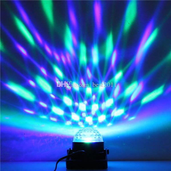 LED Mini Rotating lamp Magic Ball Party Light Disco Stage Lighting RGB Colorful Disco DJ Party KTV Stage Light laser Light