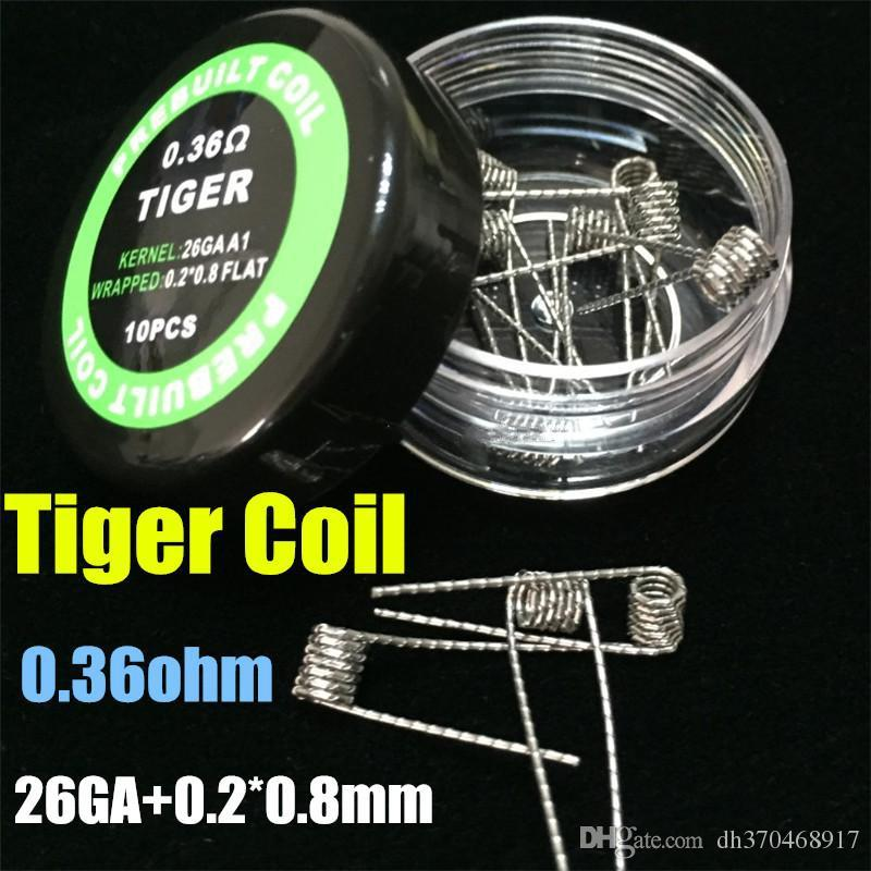 Cavi riscaldanti Clapton coil wire Hive Tiger Quad Twisted Flat twisted Mix twisted fused clapton Alien Vape RDA RBA MOD