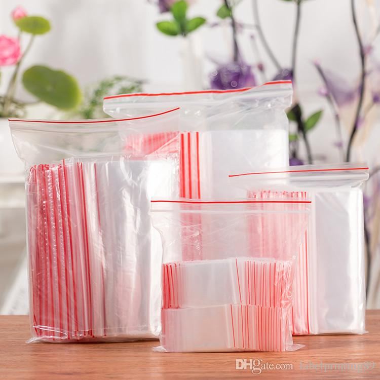 Прозрачный прозрачный пластиковый пакет молния мешок многоразовые поли пакет майлар влагостойкий мешок для хранения продуктов питания