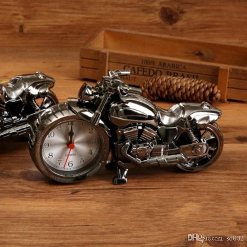 Moda Retro Relojes de Alarma Motocicleta Forma Relojes Puntero Reloj de Plástico Durable Para la Decoración Casera Venta Caliente 5 3gs B R