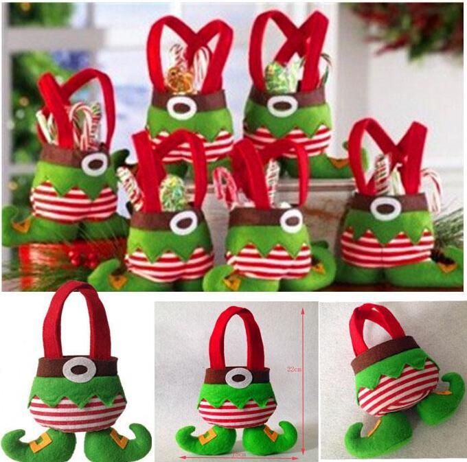 Xmas Bag For Children Christmas Candy Bag Santa Pants Style ...