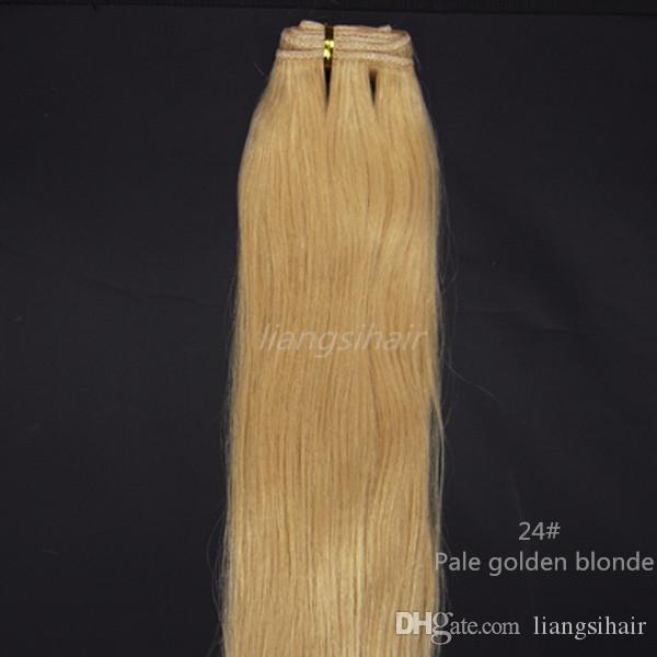 Cheap wholesale prices hair weft extensions 100 brazilian virgin cheap wholesale prices hair weft extensions 100 brazilian virgin remy human hair straight hair weave 100gx4 16 26 24 pale golden blonde wefts hair pmusecretfo Gallery