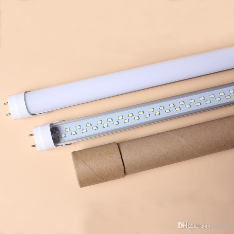 25w 4ft T8 Double Line Led Chips 3528smd Tube Lamps 50w Fluorescent ...