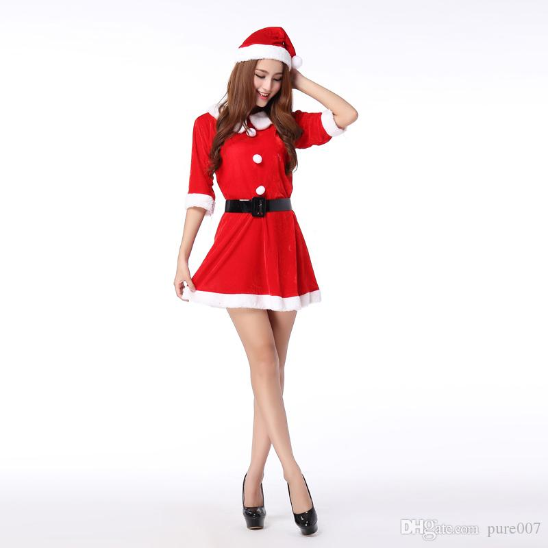Christmas Gift Sexy Fantasy Christmas Outfit Santa Costume Women'S ...