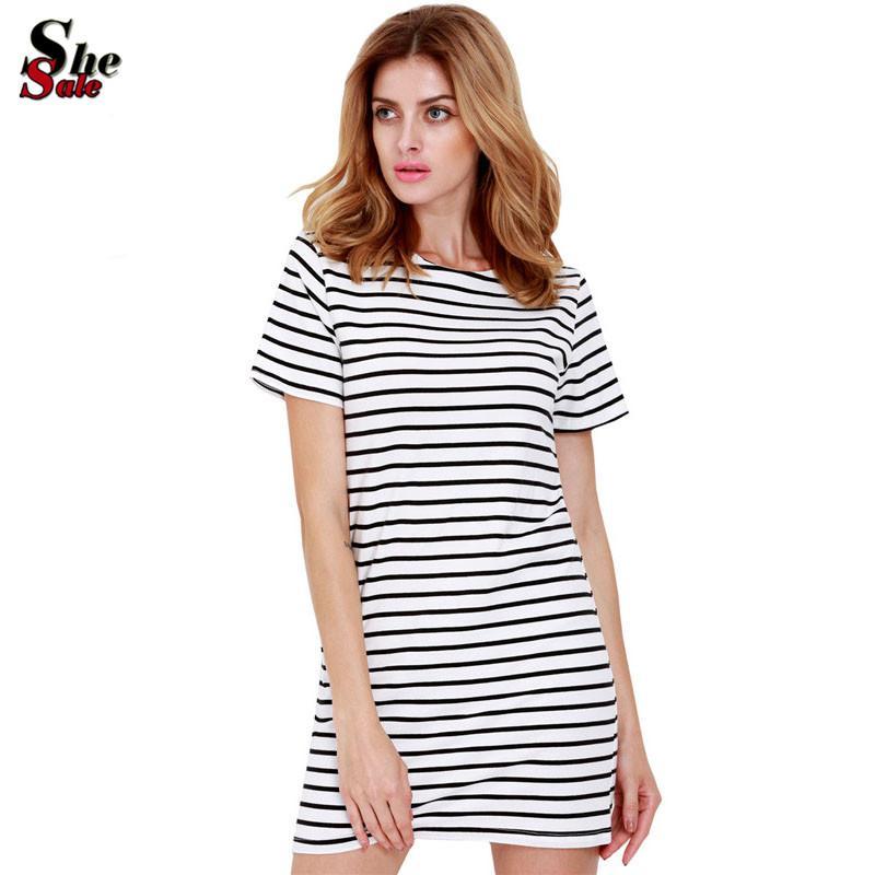 New Designer Hot Sale Women Round Neck Fashion Black And White ...