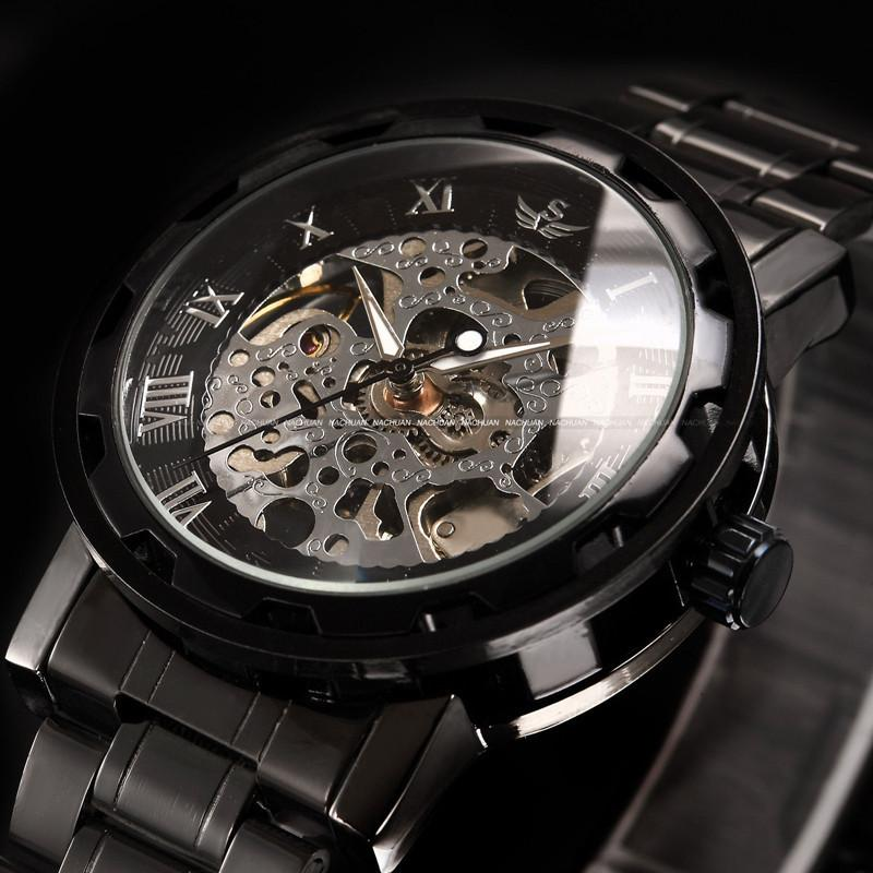 348f93fbc Military Army Transparent Steampunk Wrist Watch Skeleton Mechanical Man Stainless  Steel Watch First Wrist Watch Digital Wrist Watches From Kittyfang, ...