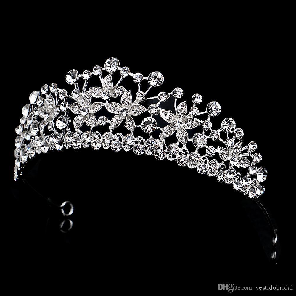 우아한 패션 신부 웨딩 왕관 신부 크라운 액세서리 보석 높은 품질 머리띠 다이아몬드 빛나게 블링 크라운 WWL