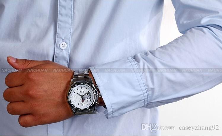 ¡DESCUENTO! 2018 Marca de moda Ganador Reloj automático automático de acero inoxidable Hombres automáticos para hombres Reloj deportivo
