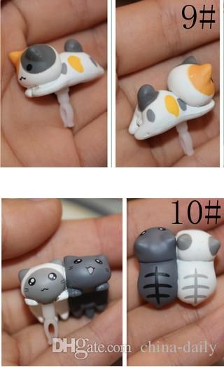 FreeShip Latest 3.5mm Headset 3D Cartoon Lying Cat Earphone Jack Plug Anti Dust Plug Earphone Ear Cap for Cell Phone iPhone 6