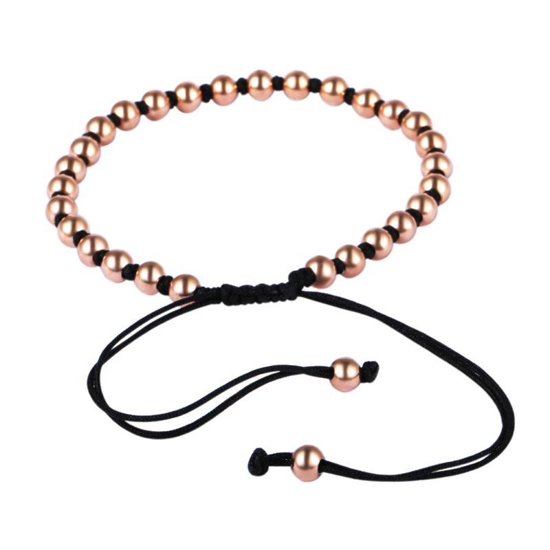 BC Atacado 2016 Homens Na Moda Pulseiras, 5mm Tom de Prata Beads Trançado Macramé Europeu Tecelagem Pulseiras Para Homens BC-224
