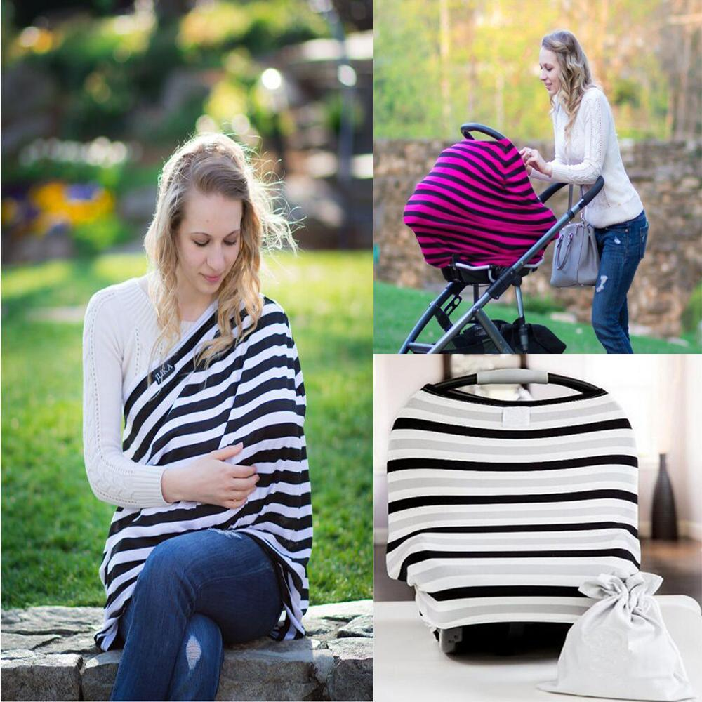 Wholesale- Multi-Use Stretchy Infinity Scarf Breastfeeding Shopping Cart High Chair Cover Baby Car Seat Cover Toddler Canopy Nursing Cover