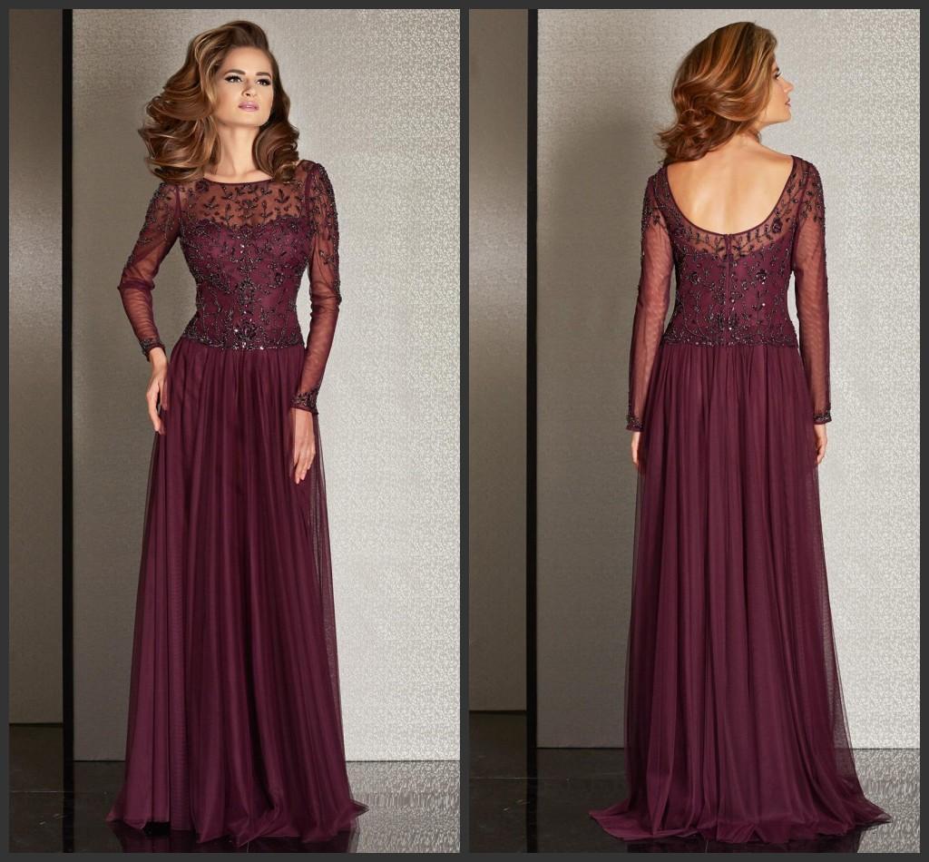 Plum A Line Mother Of The Bride Groom Dresses 2016 Scoop