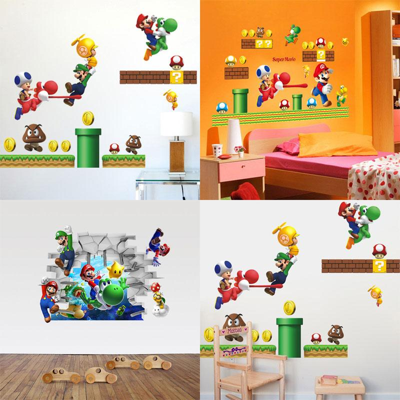 Hot Sale New Super Mario Bros Boy Room Kids Room Nursery Art Decal Wall  Stickers Home Decor Wall Stickers For Kids Rooms Decoration Wall Stickers  Decorative ...