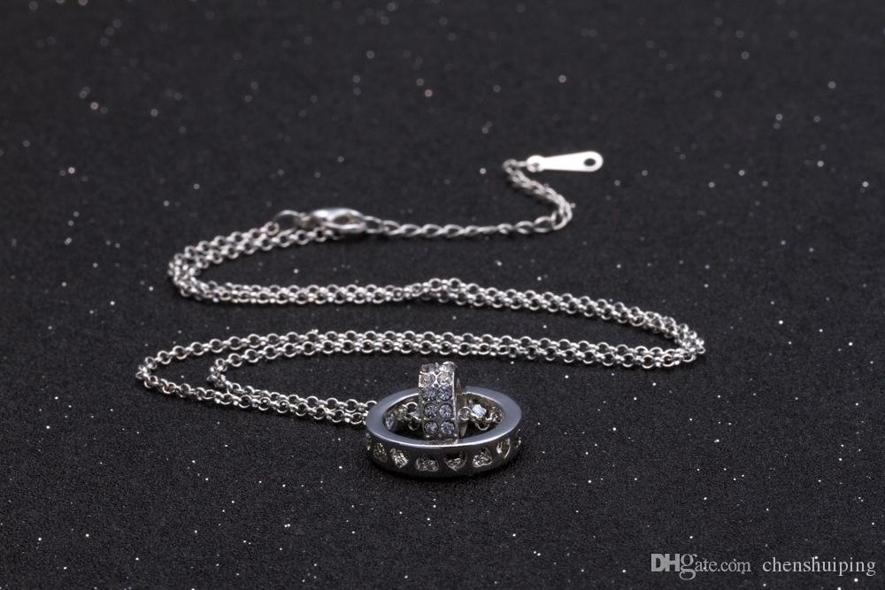 Joyería de moda caliente de Alta calidad de cristal colgante, collar, joyería del corazón, Collares pendientes, regalo de Navidad, envío gratis